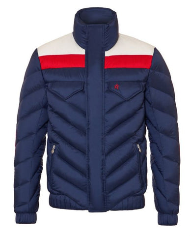 Perfect Moment - Men's Apres Duvet Navy Snow White Red Jacket