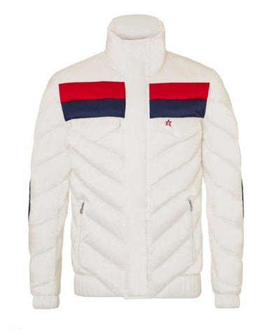 Perfect Moment - Men's Apres Duvet Snow White Red Navy Jacket