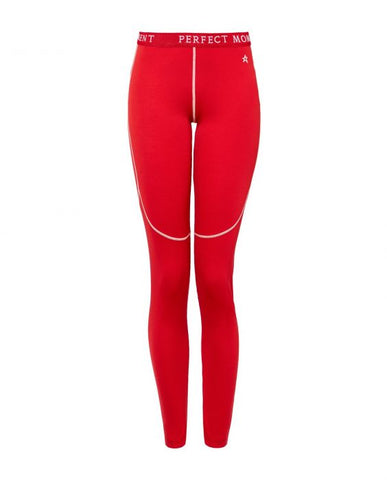 Perfect Moment - Women's Knitted Red  Thermal Leggings /  Lenses