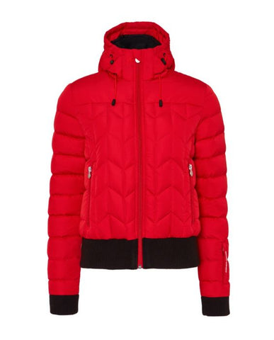 Perfect Moment - Women's Quilted Cordon Red Down Jacket