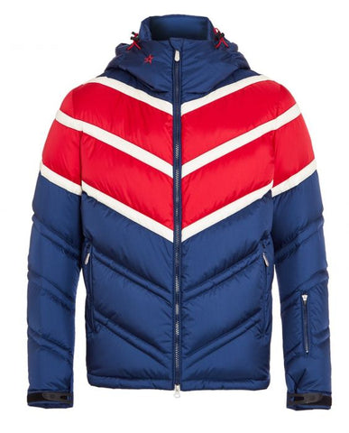 Perfect Moment - Men's Chevron Super Day Navy Red Snow White Jacket
