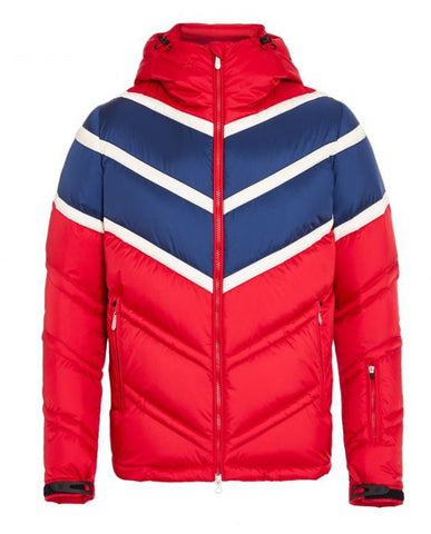 Perfect Moment - Men's Chevron Super Day Red Navy Snow White Jacket