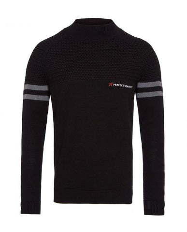 Perfect Moment - Men's Chamonix Black Asphalt Grey Turtleneck Sweater