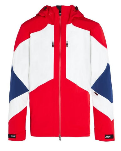 Perfect Moment - Men's Heli 3 Red Hooded Jacket