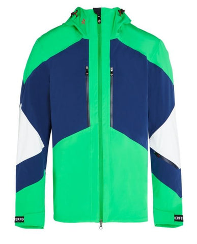 Perfect Moment - Men's Heli 3 Navy Nordic Green Hooded Jacket