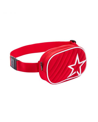 Perfect Moment - Unisex Star Print Red  Bum Bag /  Lenses