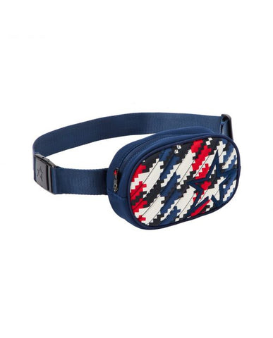 Perfect Moment - Unisex Star Print Navy Houndstooth  Bum Bag /  Lenses