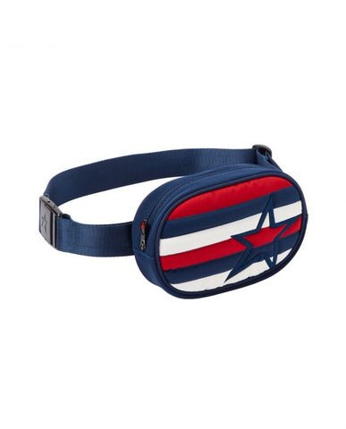 Perfect Moment - Unisex Striped Navy Red Snow White  Bum Bag /  Lenses