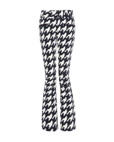 Perfect Moment - Women's Aurora Printed Black Houndstooth Ski Pants