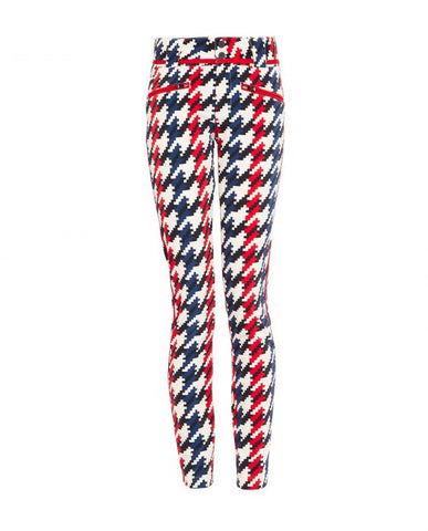 Perfect Moment - Women's Aurora II Skinny Houndstooth Red Ski Pants