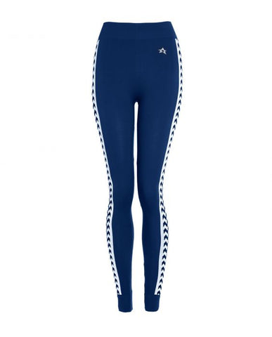 Perfect Moment - Women's Zigzag Navy Thermal Pants