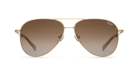 Quay - Still Standing Gold Sunglasses / Smoke Taupe  Lenses