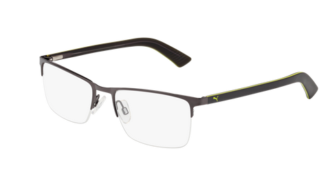 Puma - PU0028O Ruthenium + Grey Eyeglasses / Demo Lenses