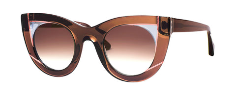 Thierry Lasry - Wavvvy Clear Brown Sunglasses / Brown Gradient Lenses