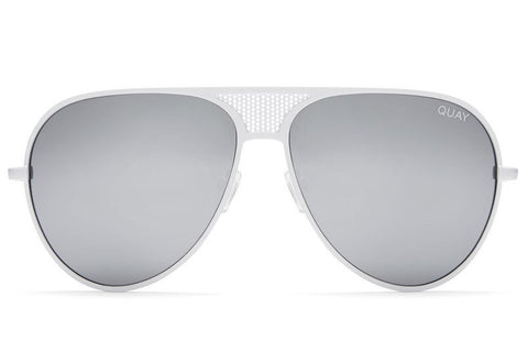 Quay x Kylie Jenner Iconic White / Silver Sunglasses
