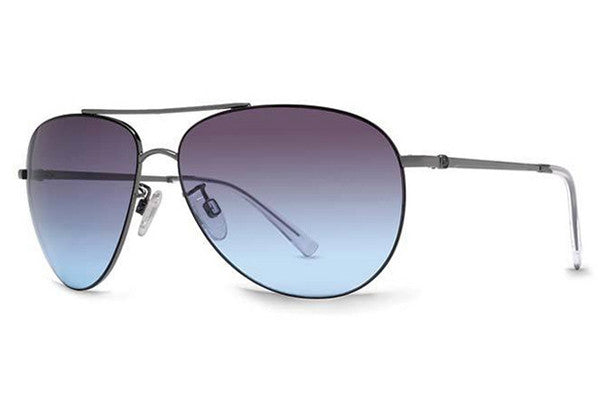 VonZipper - Wingding Gunmetal Gloss GUB Sunglasses, Grey Blue Gradient Lenses
