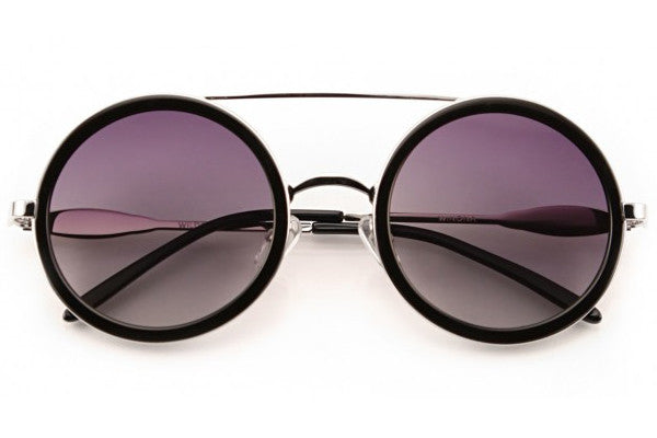 Wildfox - Winona Silver & Black Sunglasses