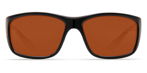 Costa - Tasman Sea Shiny Black Sunglasses / Copper Polarized Plastic Lenses