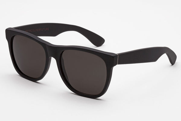 Super - Classic Black Matte Sunglasses