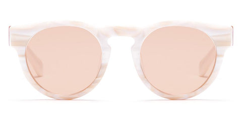 Westward Leaning - Voyager 35 Polished White Marble Sunglasses / Blush Tint Lenses