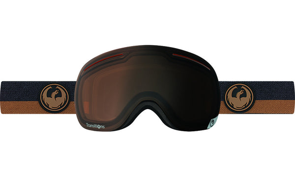 Dragon - X1 Flux Brown / Transitions Amber Goggles