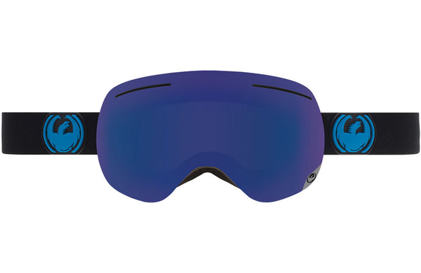 Dragon - X1 Jet / Dark Smoke Blue + Yellow Red Ion Goggles