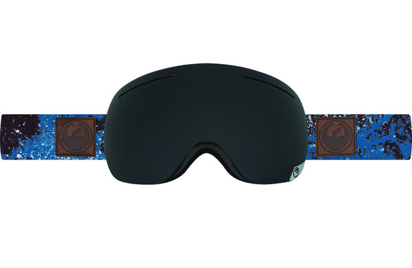 Dragon - X1 Patina Blue / Dark Smoke + Yellow Red Ion Goggles