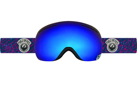 Dragon - X1 Pow Heads Red / Blue Steel + Yellow Red Ion Goggles