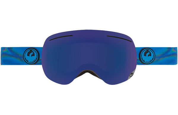Dragon - X1 Spill / Dark Smoke Blue + Yellow Red Ion Goggles