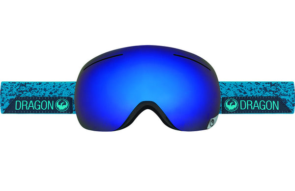 Dragon - X1 Stone Blue / Dark Smoke Blue + Yellow Red Ion Goggles