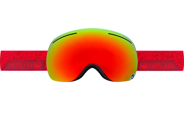 Dragon - X1 Stone Red / Red Ion + Yellow Blue Ion Goggles