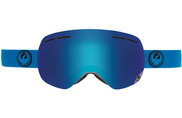 Dragon - X1s Azure / Blue Steel + Yellow Red Ion Goggles