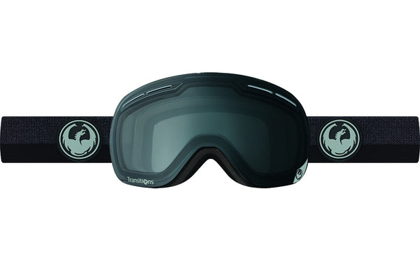 Dragon - X1s Flux Black / Transitions Clear Goggles
