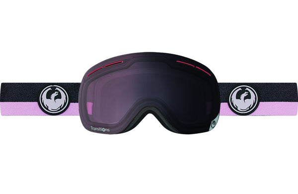 Dragon - X1s Flux Pink / Transitions Light Rose Goggles