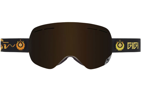 Dragon - X1s Gigi Signature / Dark Smoke + Yellow Red Ion Goggles