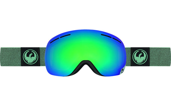 Dragon - X1s Hone Emerald / Lumalens Flash Green + Lumalens Flash Blue Goggles