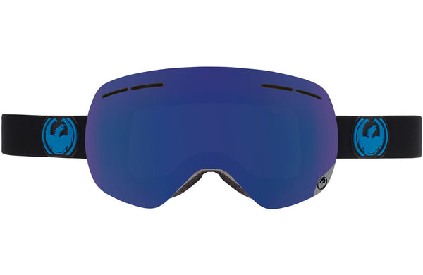 Dragon - X1s Jet / Dark Smoke Blue + Yellow Red Ion Goggles