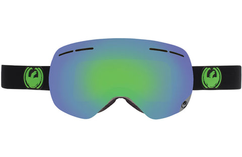Dragon - X1s Jet / Green Ion + Yellow Blue Ion Goggles