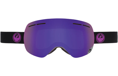 Dragon - X1s Jet / Purple Ion + Yellow Red Ion Goggles