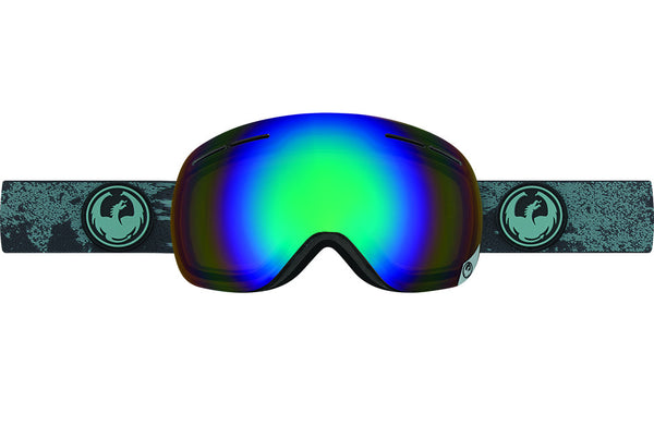 Dragon - X1s Mason Grey / Flash Green Polarized Goggles