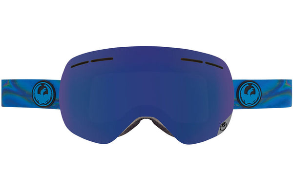 Dragon - X1s Spill / Dark Smoke Blue + Yellow Red Ion Goggles