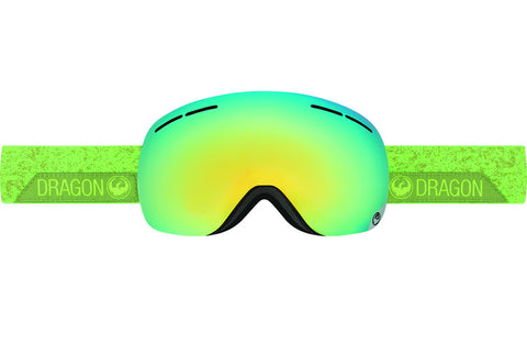 Dragon X1s Stone Green / Smoke Gold Ion + Yellow Blue Ion Goggles