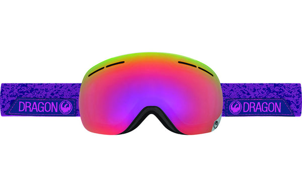 Dragon - X1s Stone Violet / Purple Ion + Yellow Red Ion Goggles