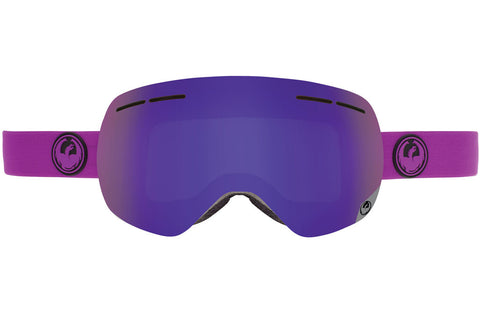 Dragon - X1s Violet / Purple Ion + Yellow Red Ion Goggles