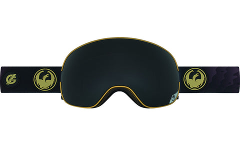 Dragon - X2 Gigi Ruf Signature Gold / Dark Smoke + Yellow Red Ion Goggles