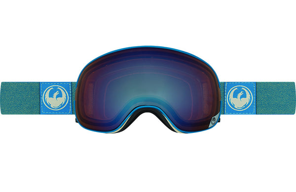 Dragon - X1s Hone Blue / Lumalens Flash Blue + Lumalens Flash Green Goggles