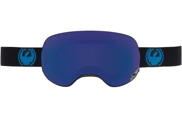 Dragon - X2 Jet / Dark Smoke Blue + Yellow Red Ion Goggles