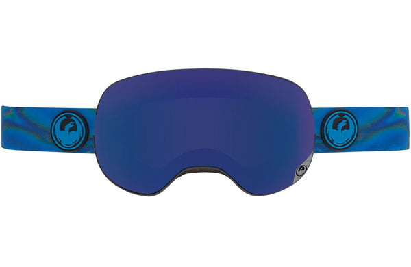 Dragon - X2 Spill / Dark Smoke Blue + Yellow Red Ion Goggles