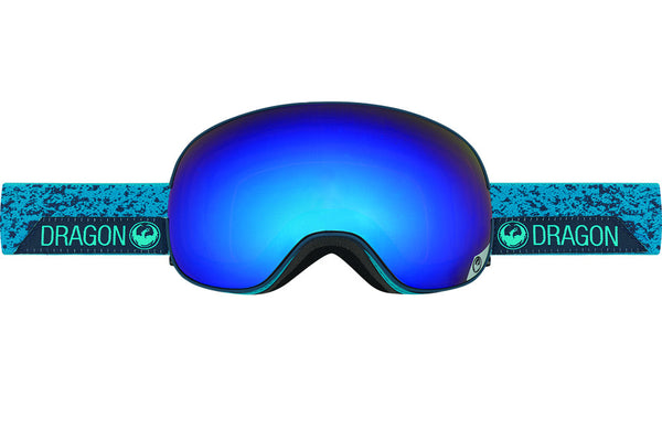 Dragon - X2 Stone Blue / Blue Steel + Yellow Red Ion Goggles