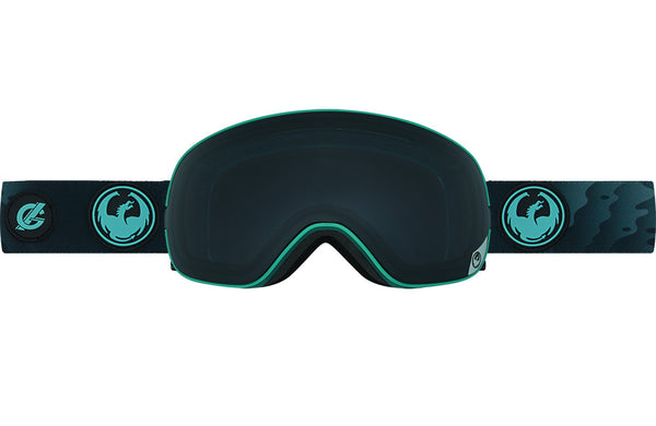 Dragon - X2s Gigi Ruf Signature Blue / Dark Smoke + Yellow Red Ion Goggles